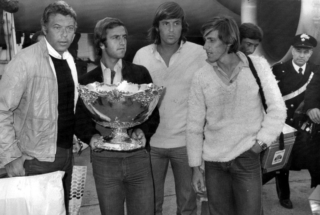 Coppa Davis 1976 Pietrangeli Bertolucci Panatta Barazzutti