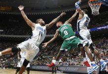 Rajon Rondo in azione con i Celtics