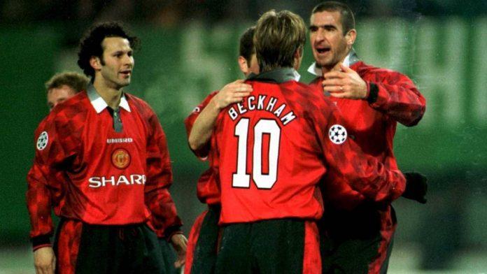 Eric Cantona, simbolo del calcio inglese anni 90