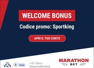 Welcome Bonus Sportking su Marathonbet